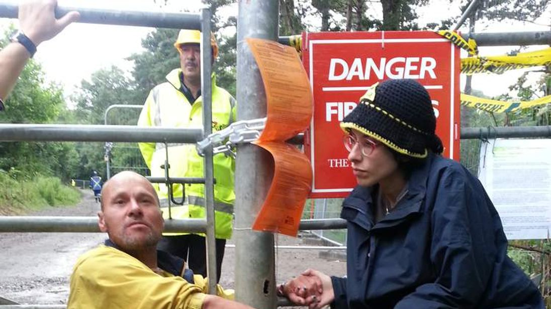 Anti-fracking protest Balcombe