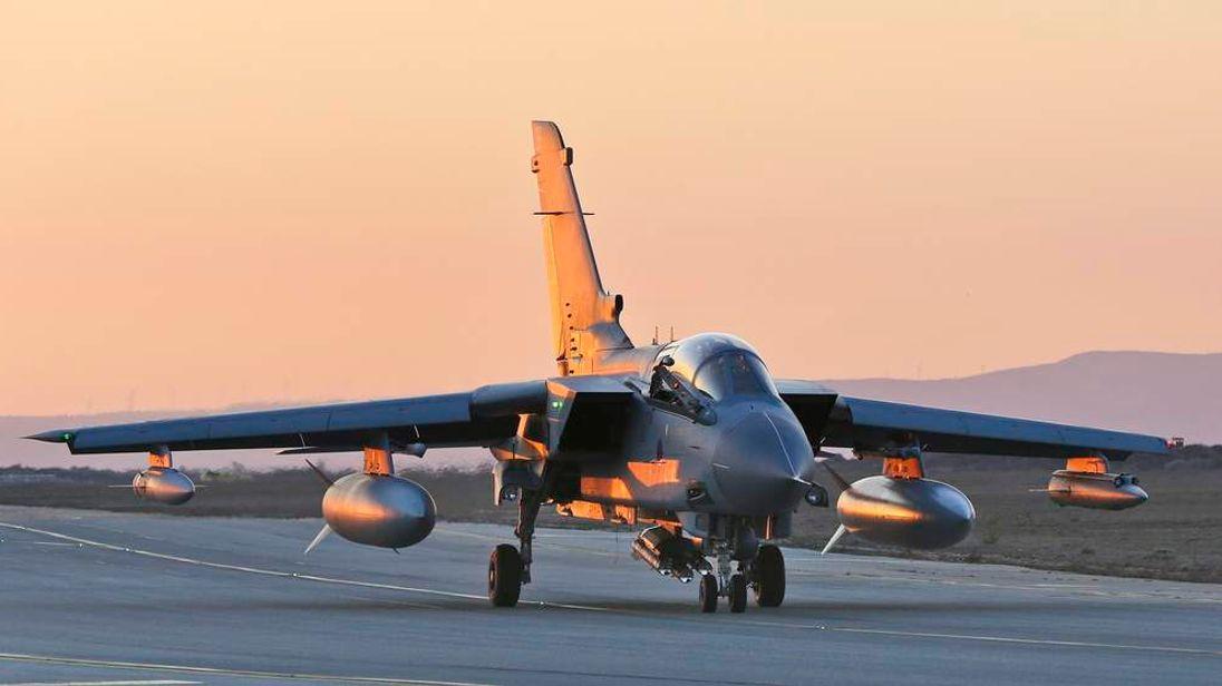 RAF Tornado GR4 returning to RAF Akrotiri in Cyprus following an armed mission in support of OP SHADER