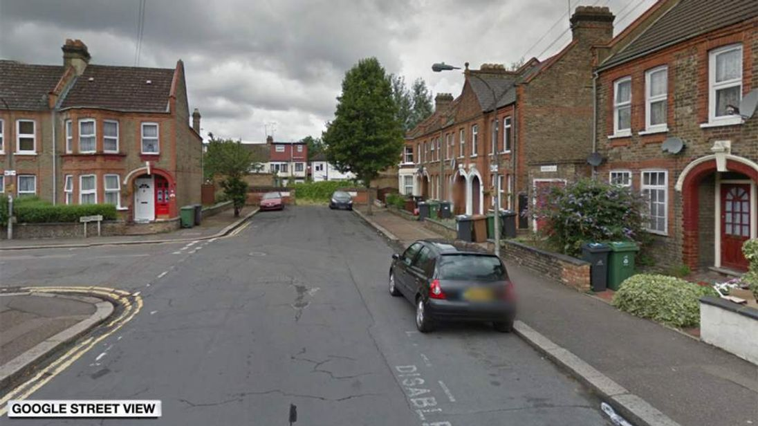 Area where a girl was raped in East London