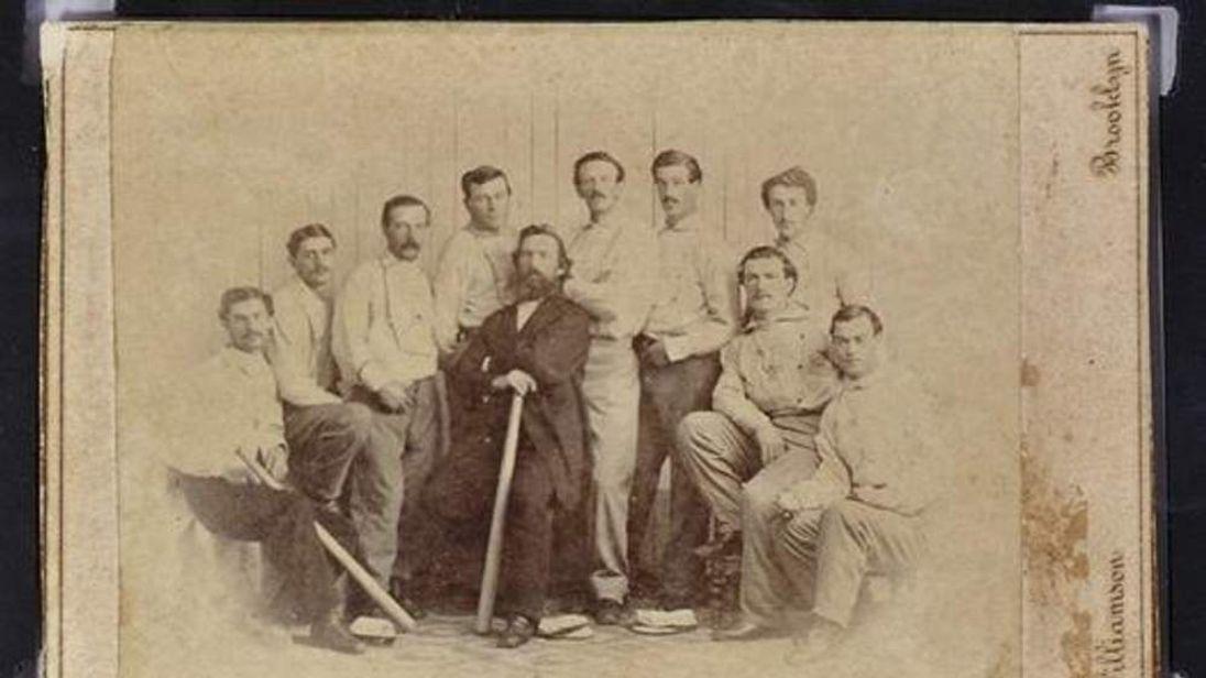 Brooklyn Atlantics 1865 baseball card