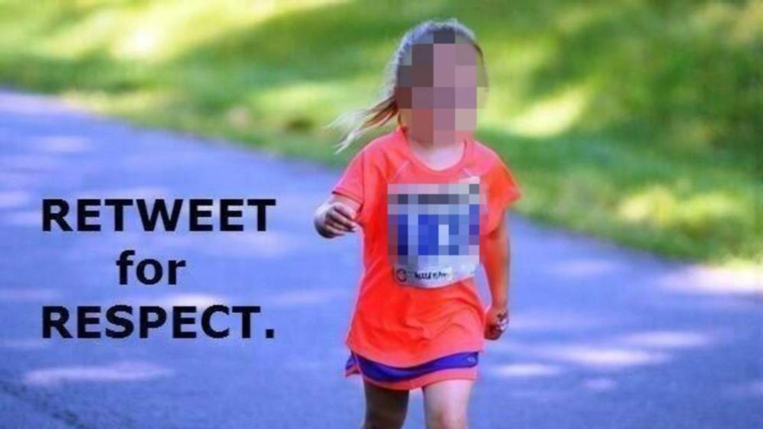 An image that is being circulated on twitter falsely claiming to be a victim of the Boston bombings