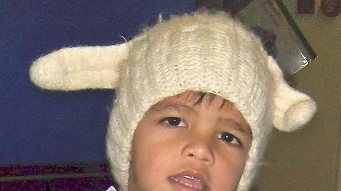 Three-year-old Rhys Lawrie