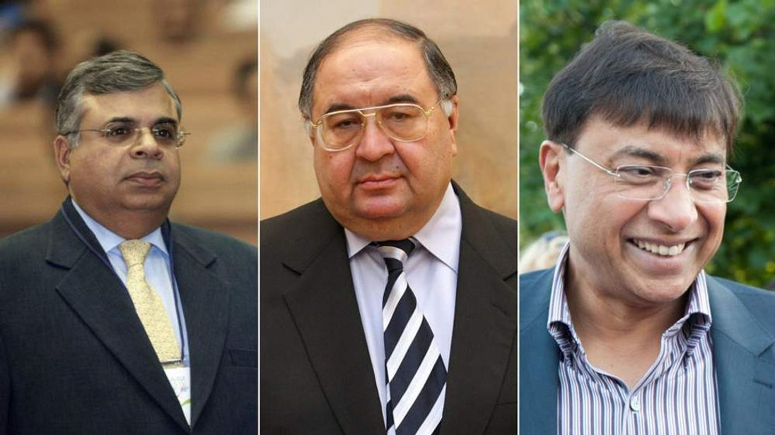 Gopi Hinduja, Alisher Usmanov and Lakshmi Mittal.