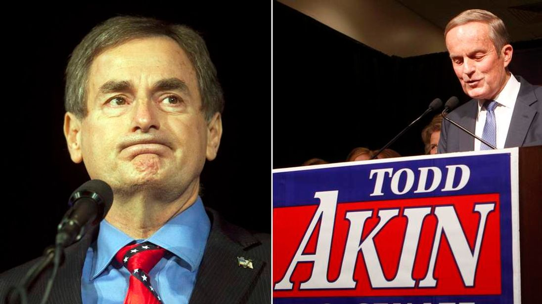 Losing Republicans Richard Mourdock and Todd Akin