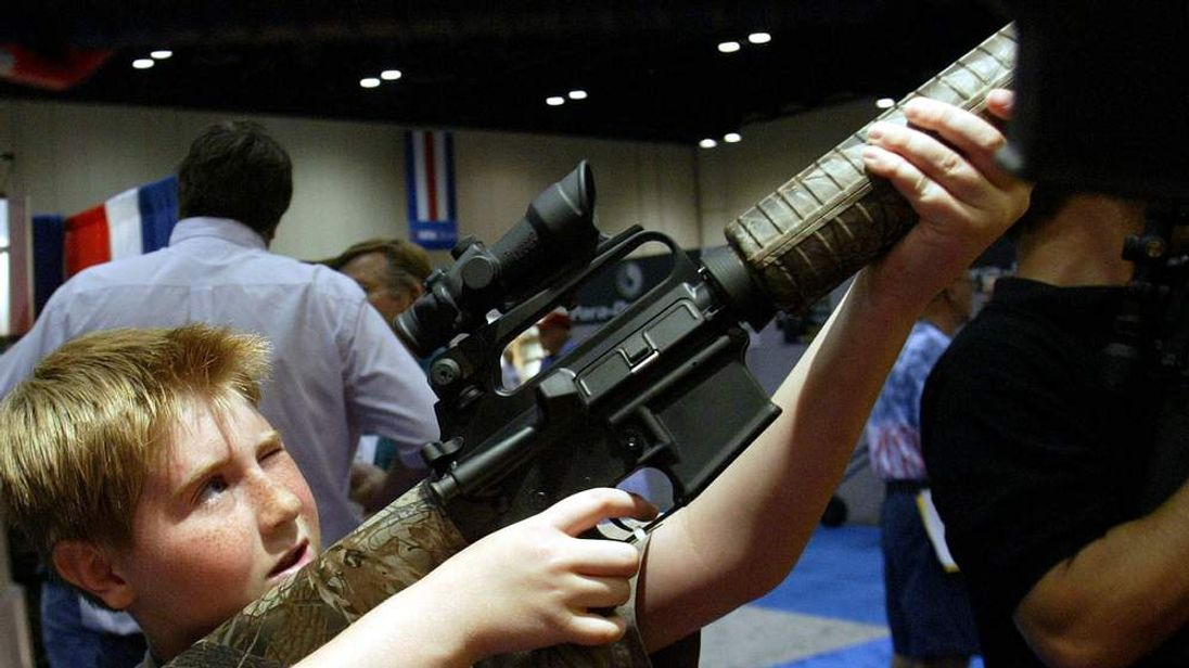 A 10-year-old with a Bushmaster assault rifle
