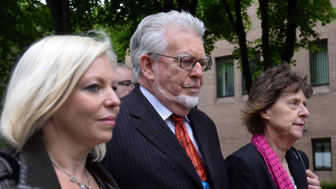 Rolf Harris with Bindi Harris (L)