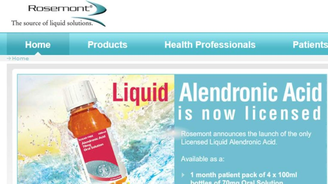 Rosemont Pharmaceuticals website