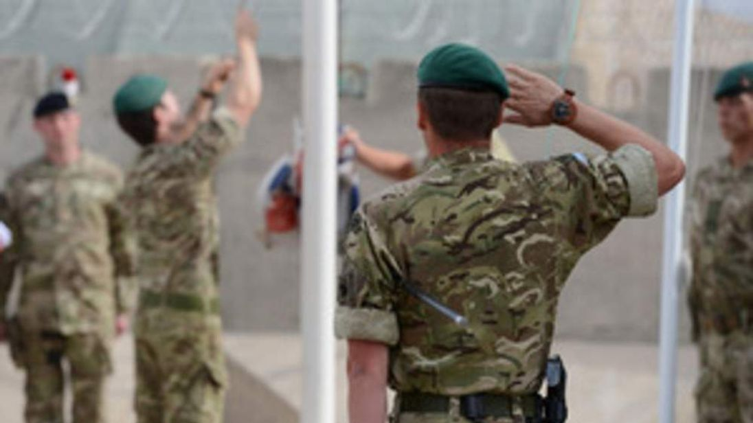 Royal Marines of 40 Commando hand over authority of Main Operating Base Price to 1st Battalion The Royal Regiment of Fusiliers