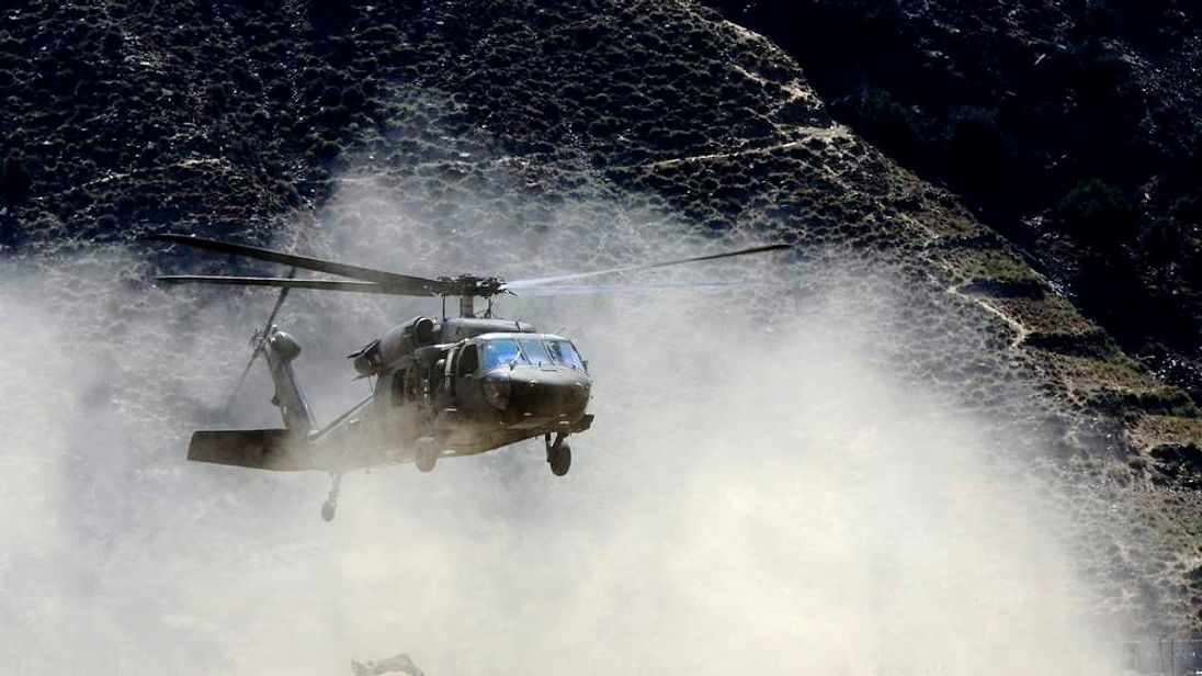 Black Hawk helicopter in Afghanistan