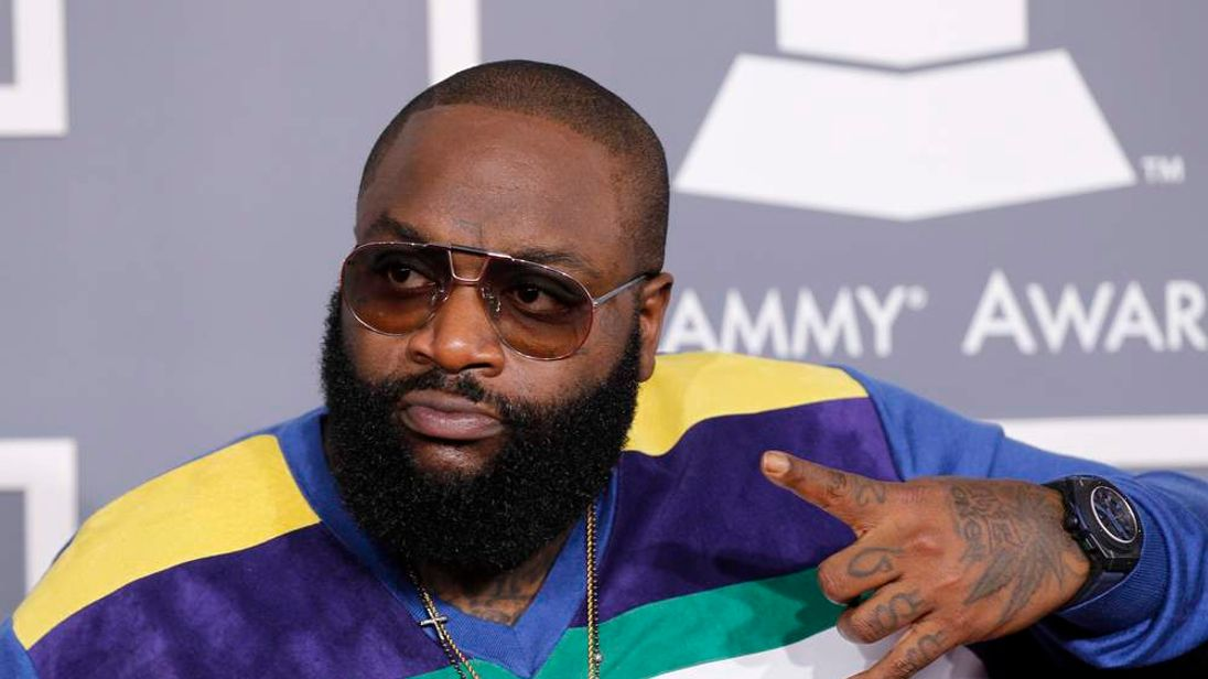 Hip hop artist Rick Ross arrives at the 54th annual Grammy Awards in Los Angeles