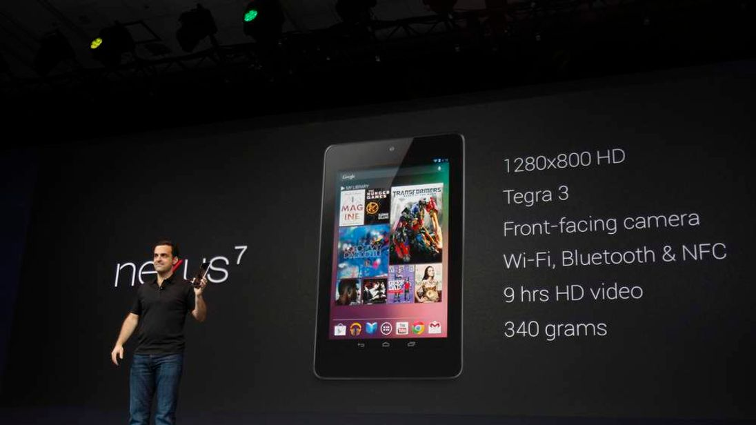 Hugo Barra unveils the Nexus 7 tablet