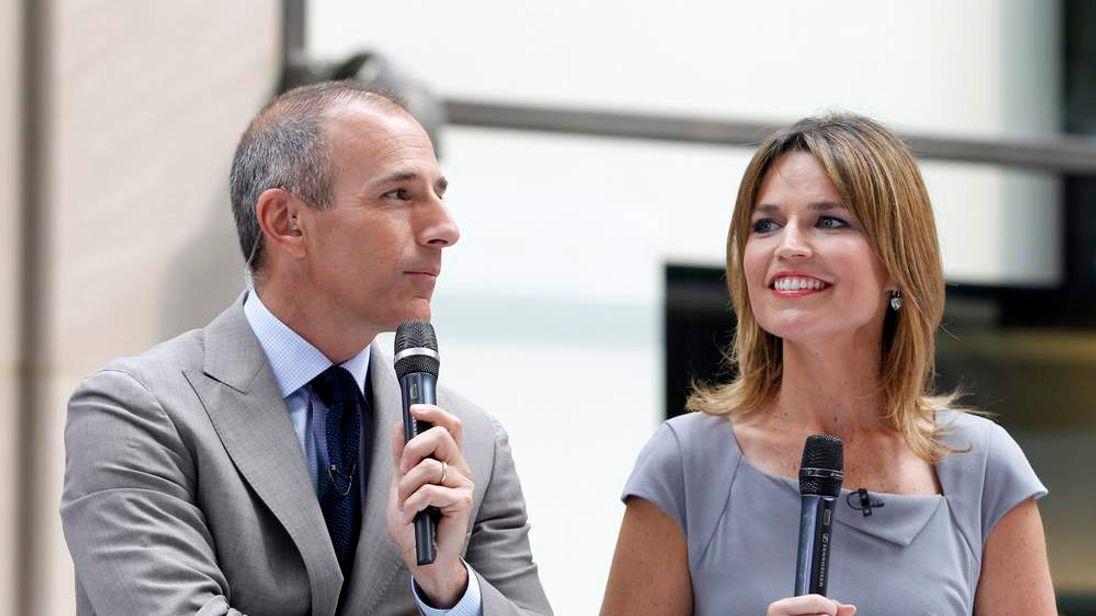 Matt Lauer co-hosts NBC's 'Today' show with Savannah Guthrie in New York