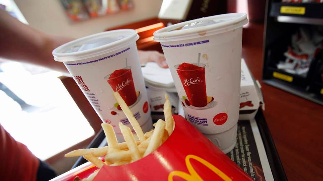 File photo of a tray of food at a McDonald's restaurant in New York