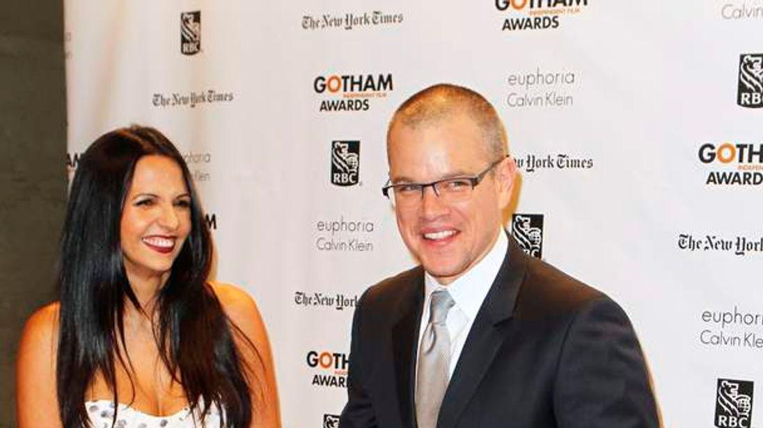 Matt Damon with his wife Luciana Boznan Barroso