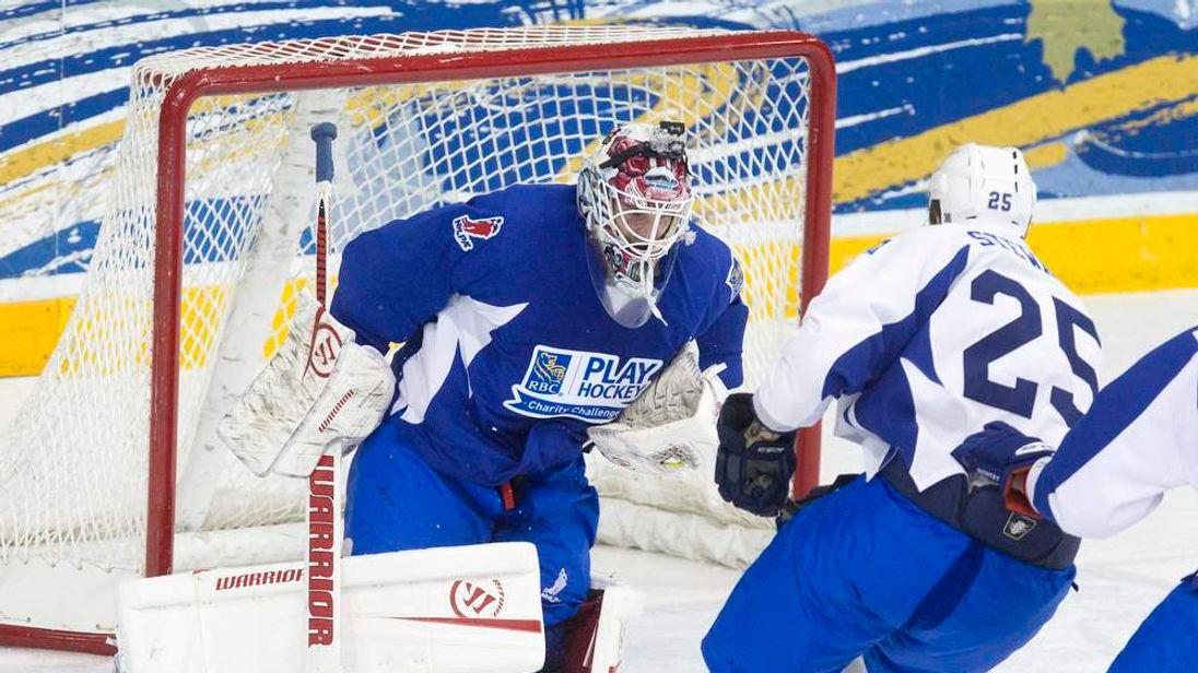 A NHLPA charity hockey game in Toronto