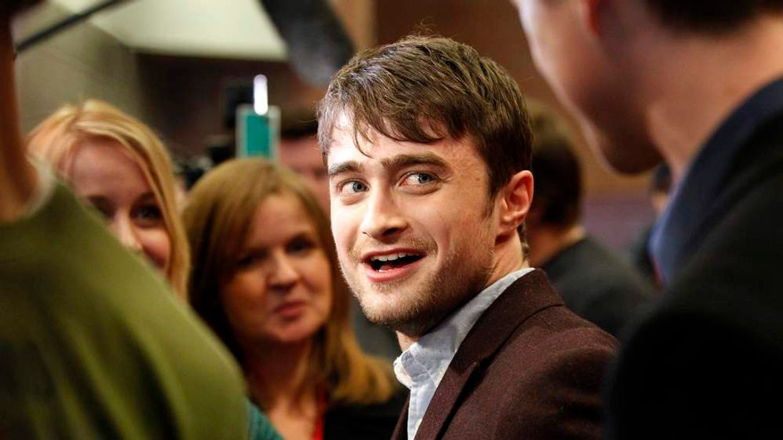 """Radcliffe is interviewed at the premiere of """"Kill Your Darlings"""" during the Sundance Film Festival in Park City"""