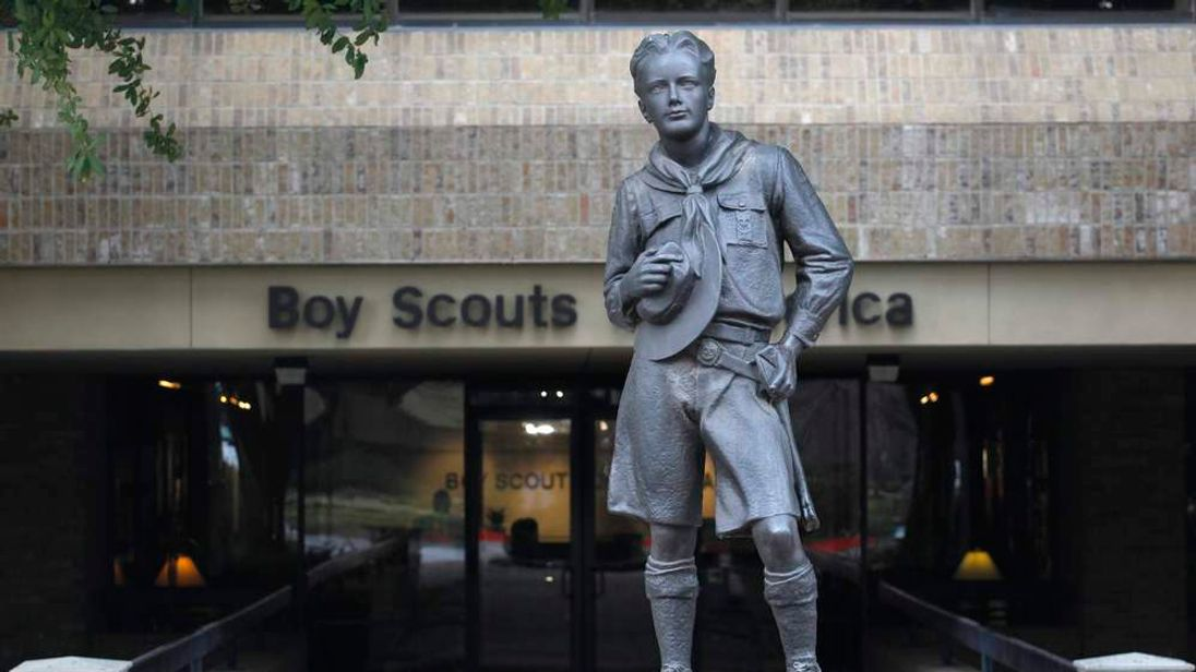 Scout statue at the Boy Scouts of America headquarters in Irving