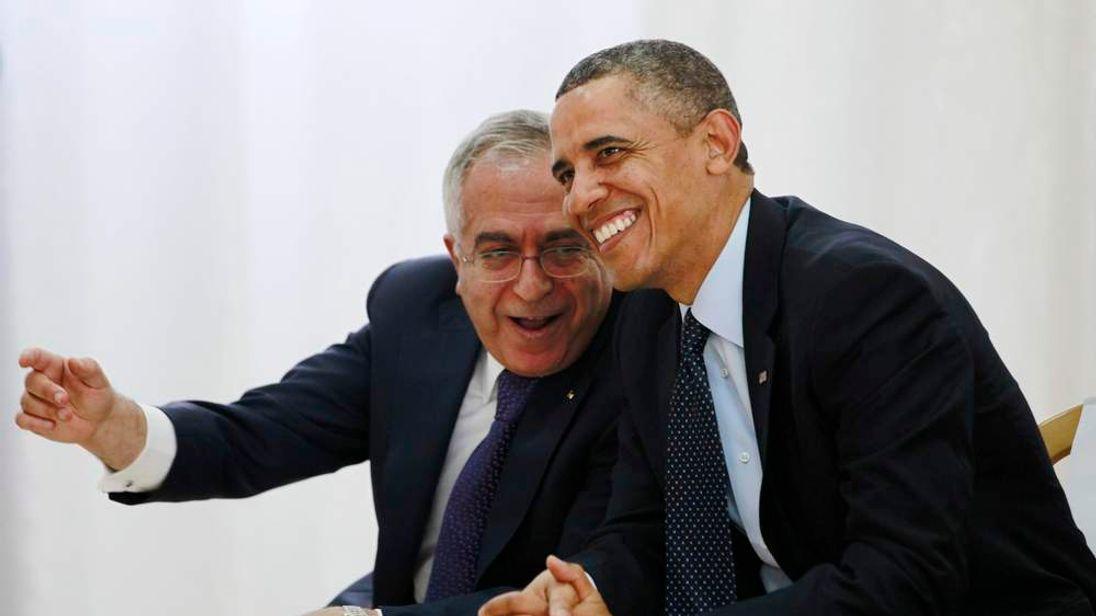 Barack Obama and Salam Fayyad