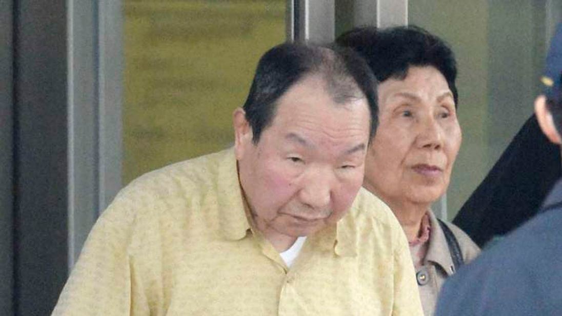 Death row inmate Iwao Hakamada is released from Tokyo Detention House in Tokyo