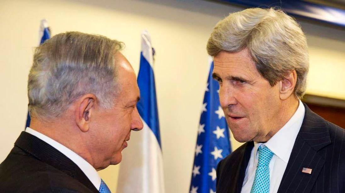 Israeli Prime Minister Benjamin Netanyahu meets with U.S. Secretary of State John Kerry as they meet in Jerusalem