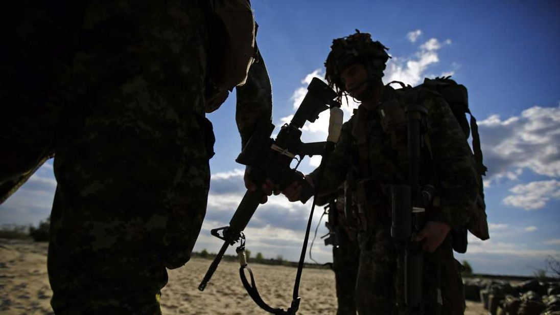 Nato Troops from Canada's 3rd Division On Exercise In Poland