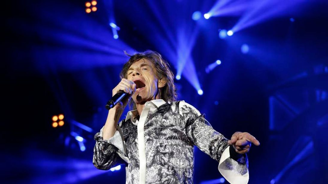 Mick Jagger and the Rolling Stones perform during a concert at the Telenor Arena, in Fornebu, Baerum