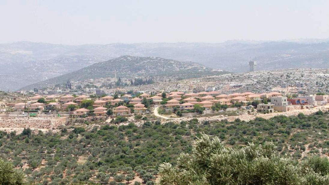 A general view of the Jewish settlement of Brukhim which is located near the West Bank village of Kufr al-Deek near Salfit
