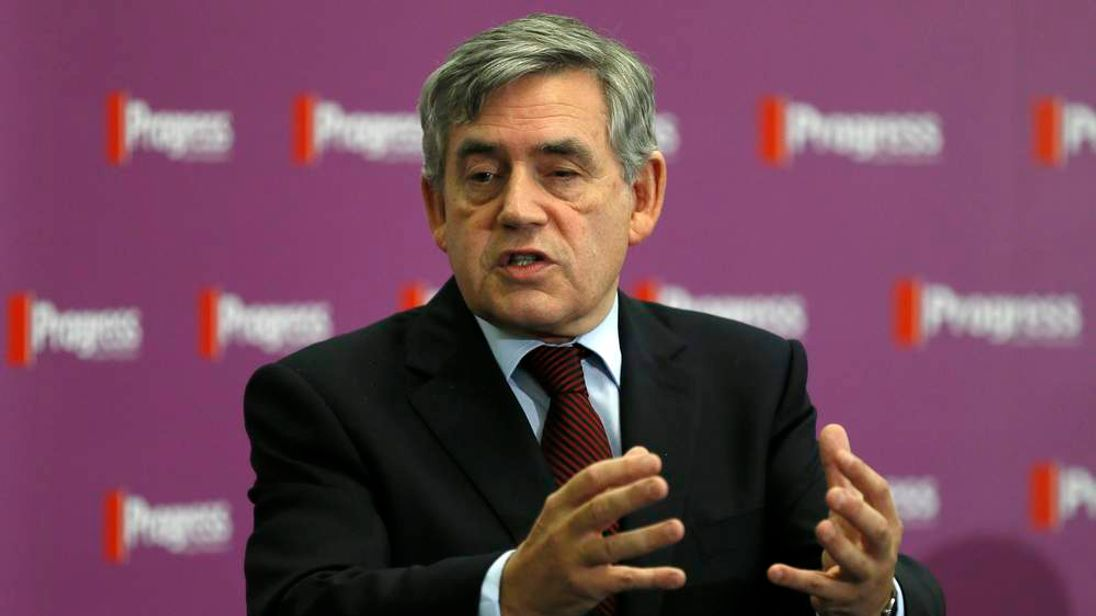 Former British Prime Minister Gordon Brown speaks, ahead of the forthcoming Scottish vote for independence from the United Kingdom, at Portcullis House in London