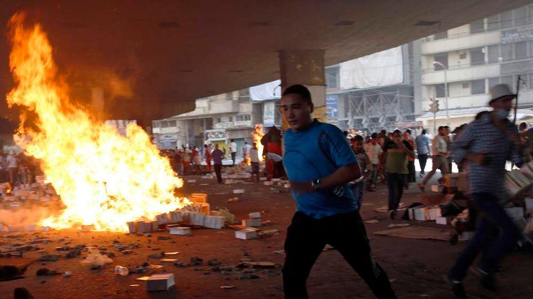 A supporter of ousted Egyptian President Mohamed Morsi