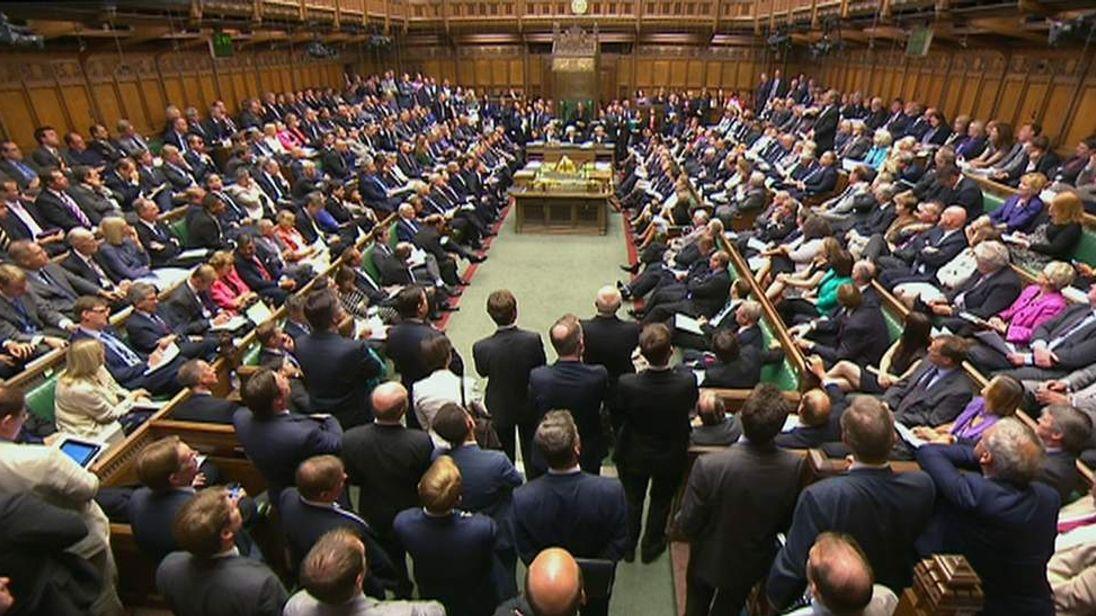 Members of Parliament during the Syria debate