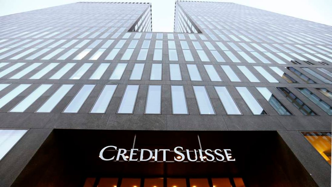 The logo of Swiss bank Credit Suisse is seen at an office building in Zurich
