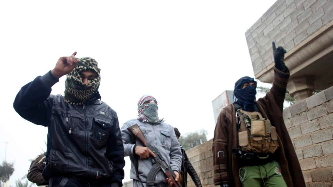 Gunmen in Fallujah, Iraq