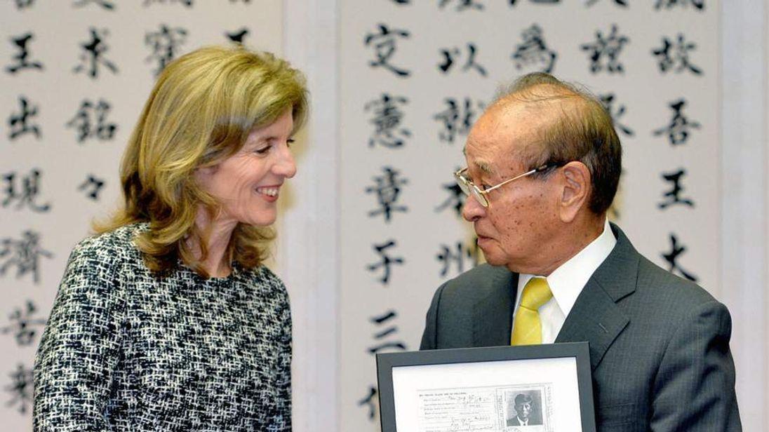 Caroline Kennedy and Hirokazu Nakaima