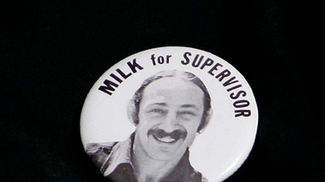 Harvey Milk's first campaign button i