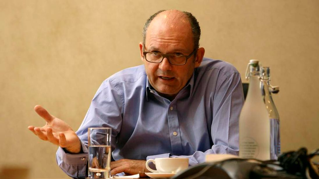 Michael Spencer, chief executive of ICAP, speaks during a Reuters Business Summit in London