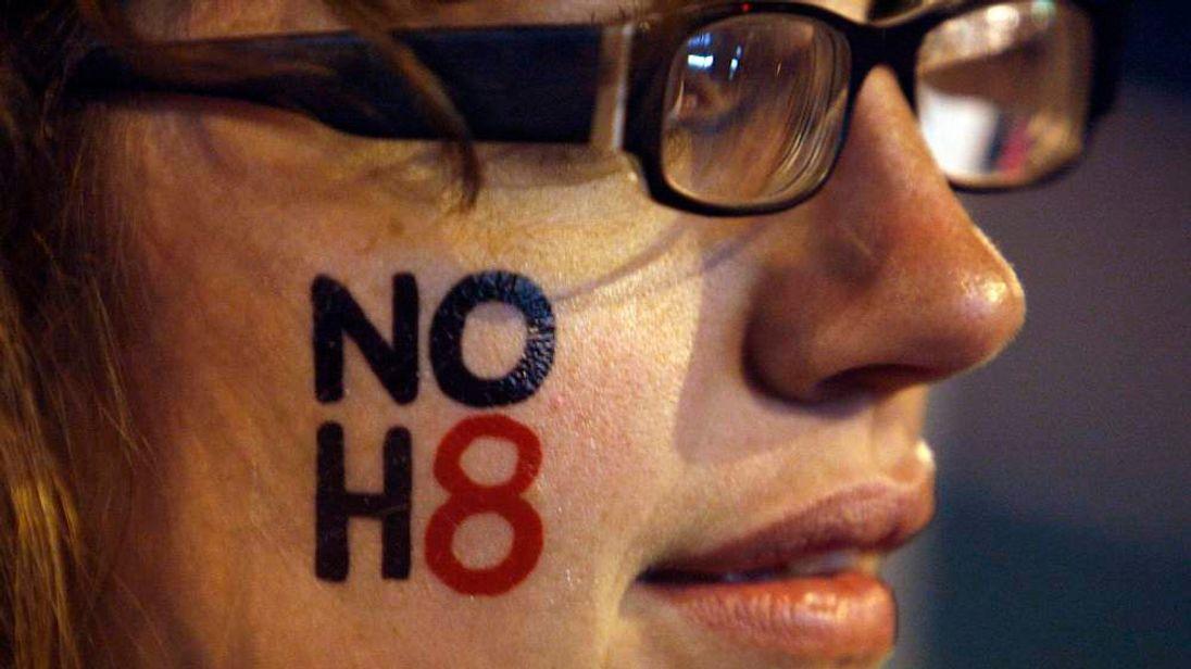 A pro-gay marriage activist in California