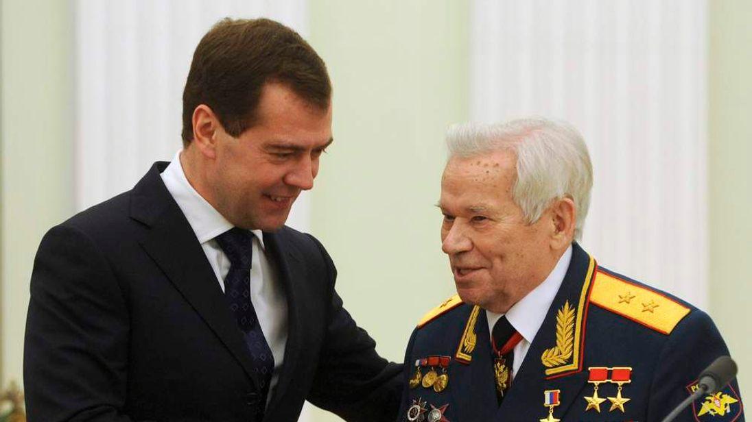 Mikhail Kalashnikov who invented AK-47 assault rifle