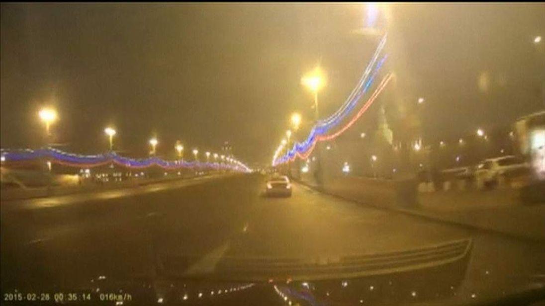 Dashcam purports to show murder scene just minutes after Nemtsov killing