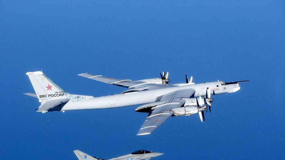 RAF Typhoons intercept Russian Bear bomber