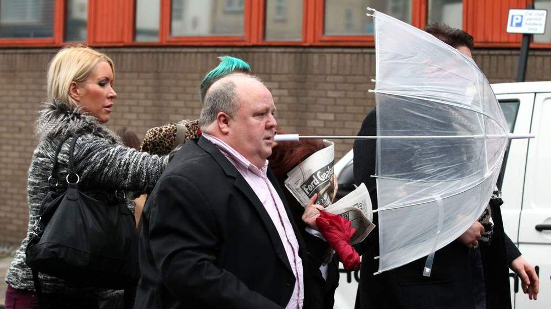 Samantha Kidd, estranged wife of Eddie Kidd, arrives at court