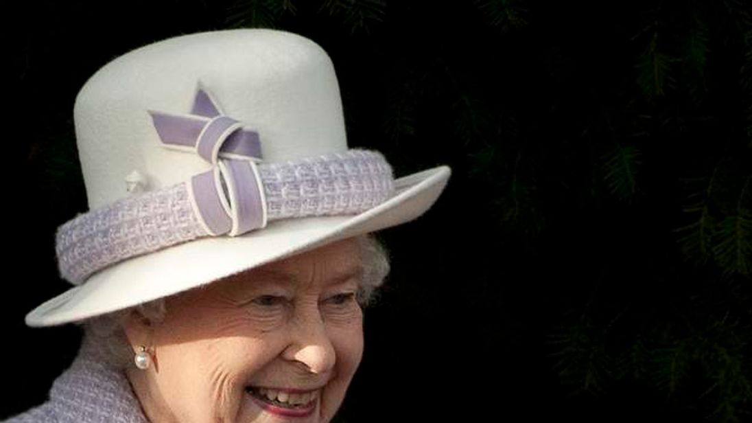 The Queen at Sandringham