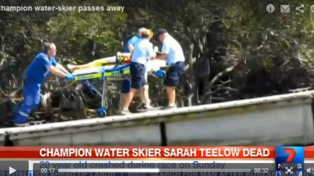 Champion waterskier Sarah Teelow dies after accident