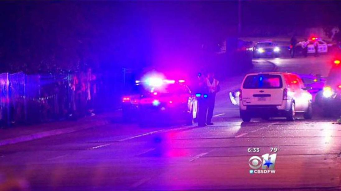Scene of a crash in Dallas that left six people dead
