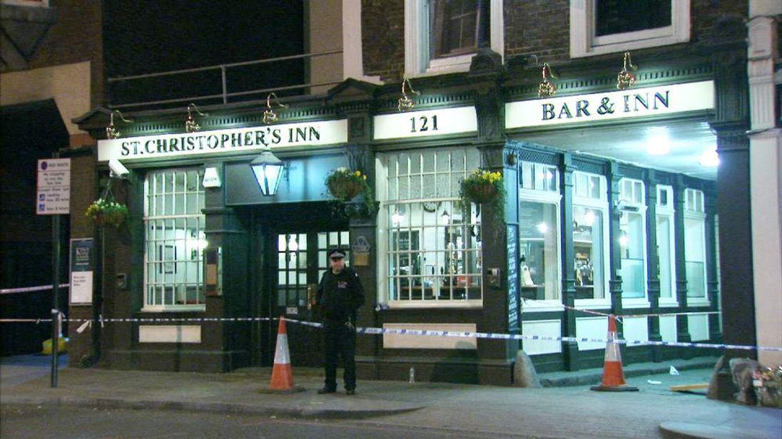 St Christopher's Inn in Borough High Street, Southwark, central London.