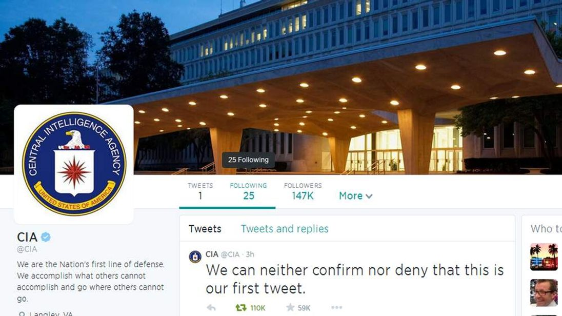 060614 $$ CIA Launches Twitter Account