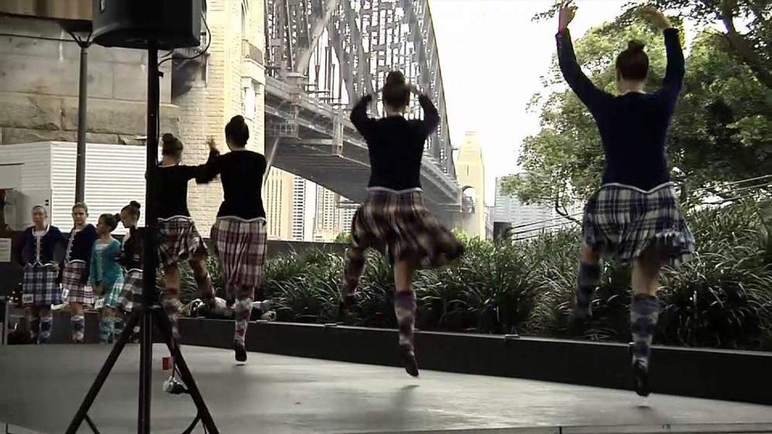 Scottish dancers in Sydney