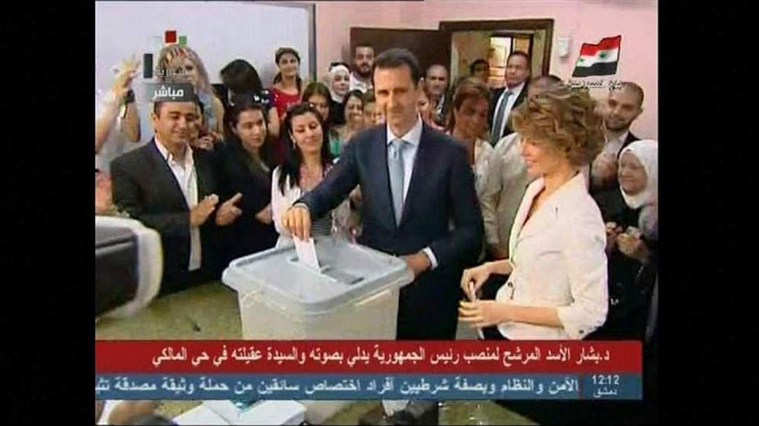 Bashar al Assad voting