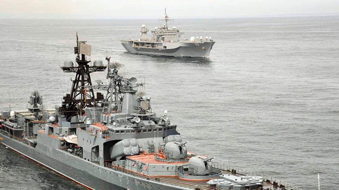 Russian anti-submarine vessel Severomorsk. Pic US Navy