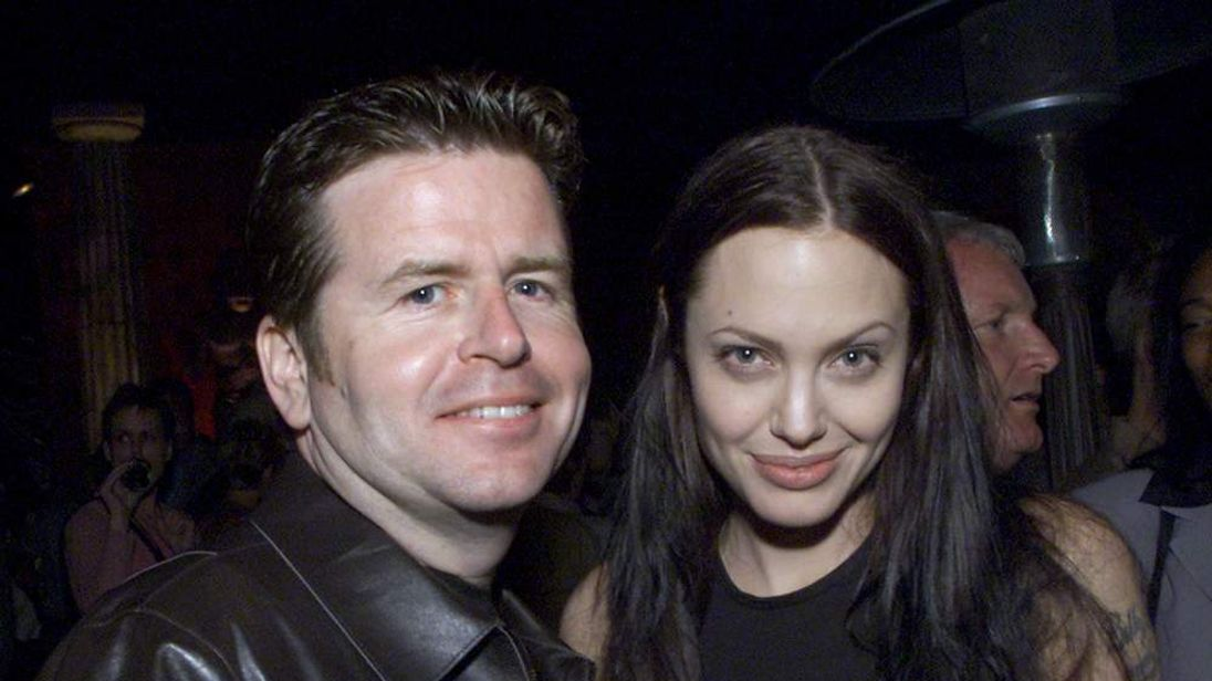 Simon West and Angelina Jolie
