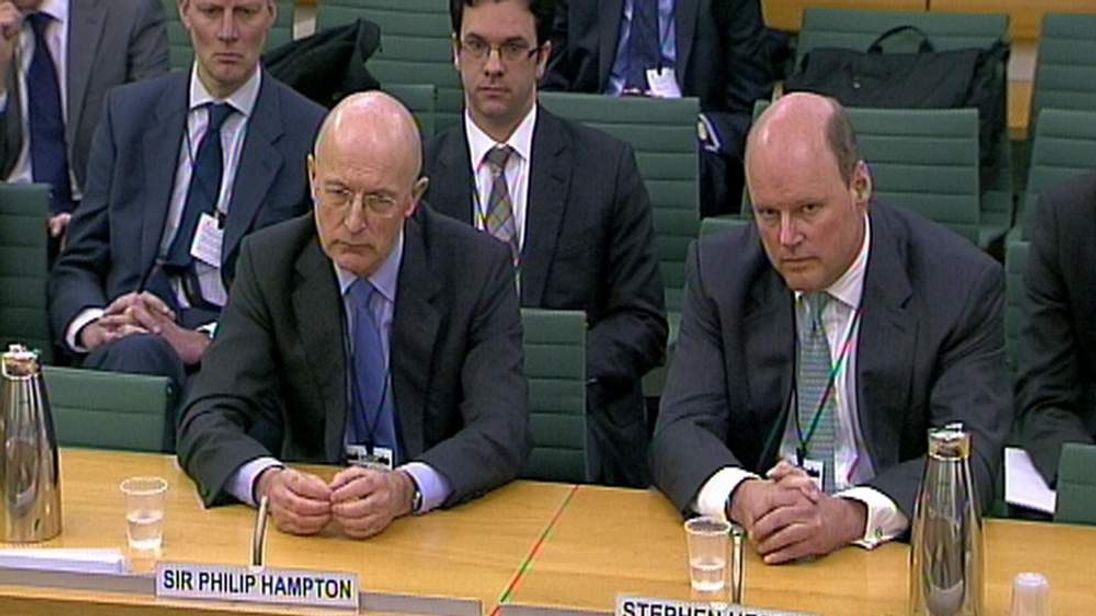Sir Philip Hampton (L) and Stephen Hester (R).